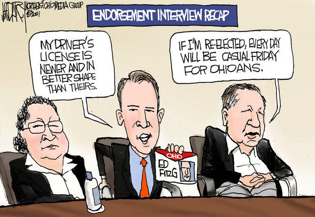 PD gubernatorial race coverage accurately summarized in one cartoon
