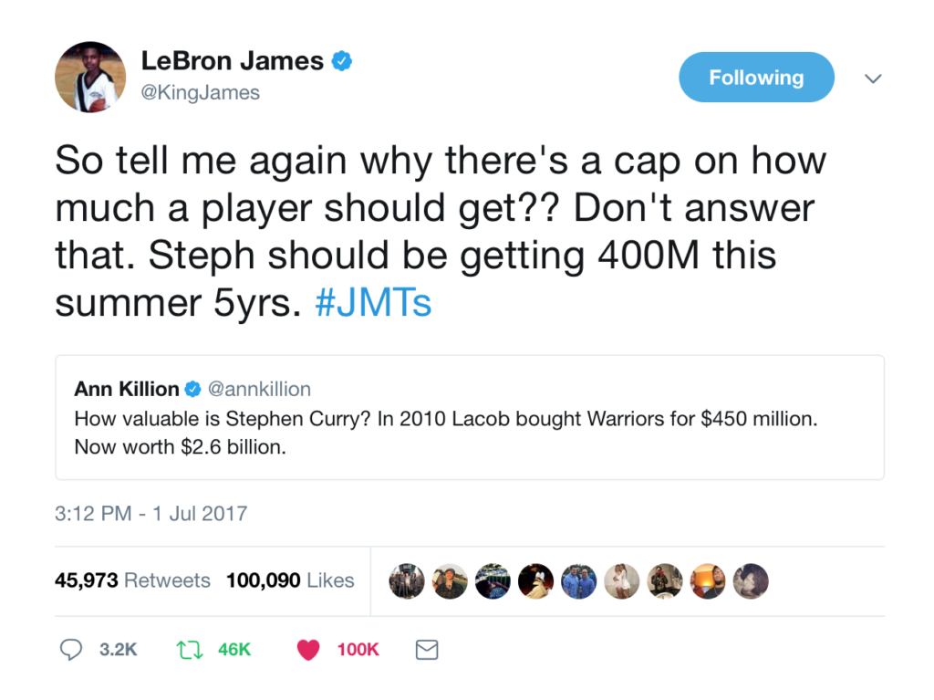 LeBron on salary cap